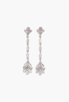Baguette CZ Drop Earrings