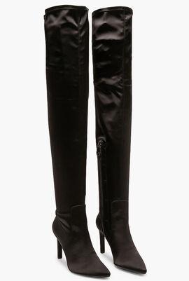 Faviola Satin Thigh High Boots