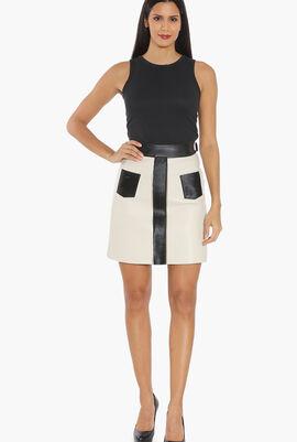 Fur Printed Skirt