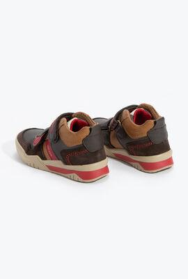 حذاء رياضي برقبة مرتفعة باللون البني الداكن J Perth B.D