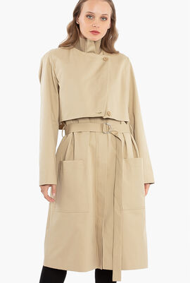 Cotton Belted Trench Coat