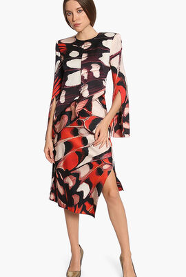 Padded Long Sleeves Dress
