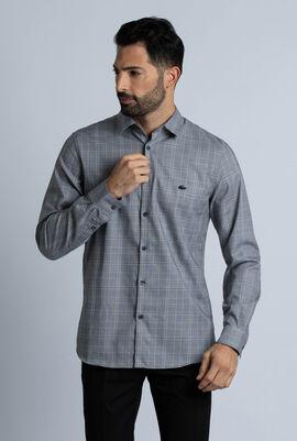 Slim Fit Glen Plaid Cotton Shirt