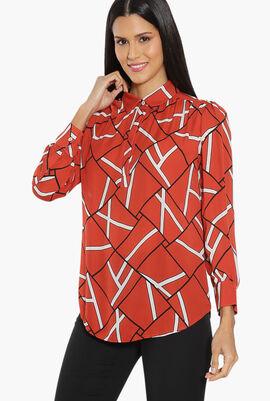 Printed Long Sleeves Blouse