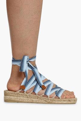Strappy Stripes Sandals