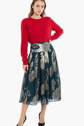 Jacquard A-Line Skirt