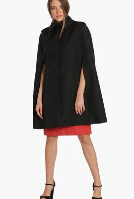 Wool Blend Cape Coat