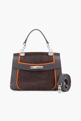 Suede Medium Crossbody Bag