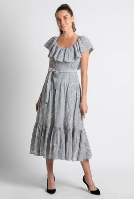 Eyelet Embroidered Maxi Dress