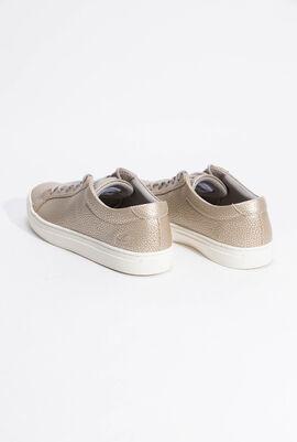 حذاء رياضي جلد L.12.12 باللون الرمادي