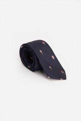 Ice Cream Print Skinny Tie