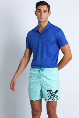Motu Lagon Turtle Stitched Swim Trunks