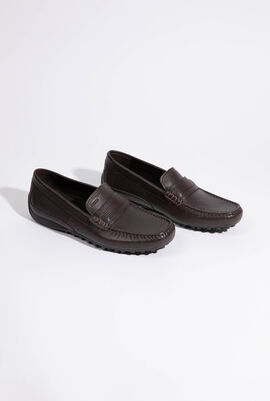 U Snake Dark Brown Moccasins