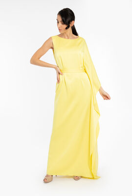 Satin Ruffles Side Dress