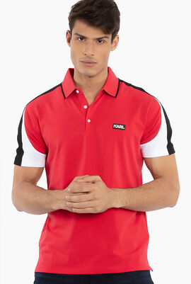 Colorblock Sleeve Polo Shirt