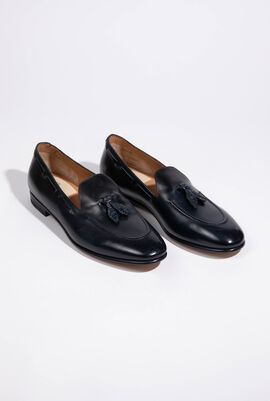 Solid Leather Loafers