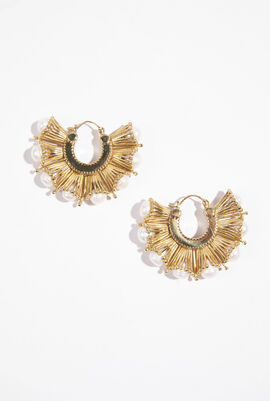 Nobel Art Iculated Pearl Earrings