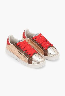 Brompton Metal Dots Leather Sneakers