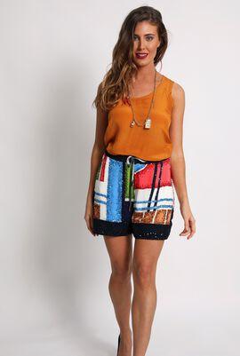 Sequins Embellished Mini Shorts
