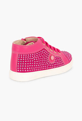 High Sneakers Pink