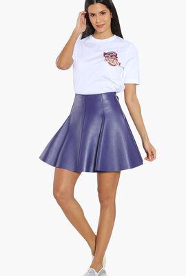 Plain Leather Skirt