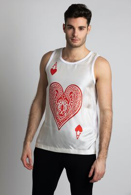 Playing Card Print Top