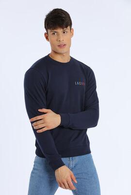 قميص ثقيل من الصوف مطرز بشعار العلامة التجارية المميز بألوان متعددة