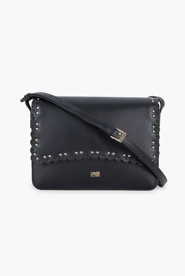 Leolace Leather Crossbody Bag