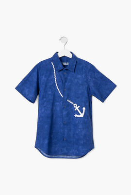 Anchor Embroidered Short Sleeve Shirt
