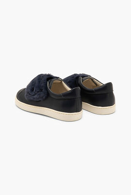 Fur Velcro Strap Sneakers