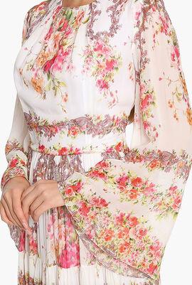 Floral Printed Georgette Dress