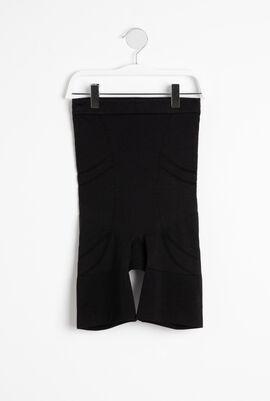High-waisted-mid-thigh Short