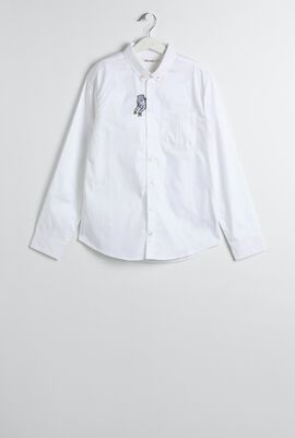 White Tiger Embroidered Shirt