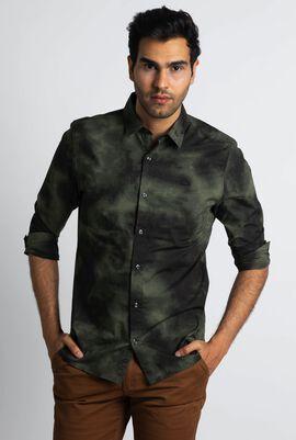 Slim Fit Cloud Long Sleeve Shirt