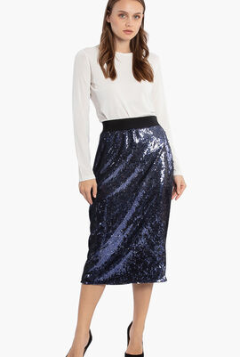 Orafo Sequined Skirt