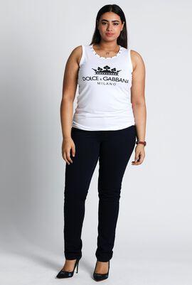 Sleeveless Cotton T-Shirt