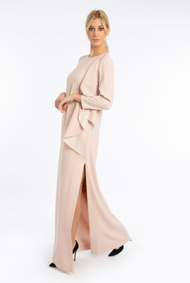 Shoulder Drape Long Dress