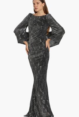 Sequin Long Sleeves Dress