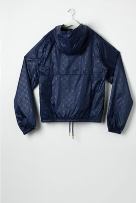 Patterned Hoodie Track Jacket