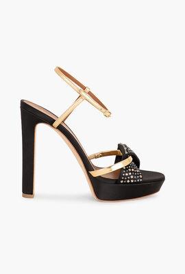 Lauren Crystal Platform Sandals