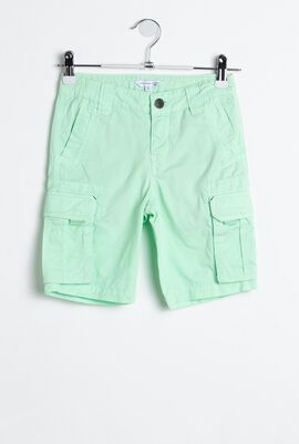 Casual Solid Cotton Short