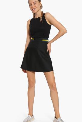 Lacoste L!VE Contrast Waistband Twill Skater Skirt