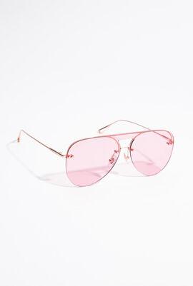Half-Rimless Aviator Sunglasses