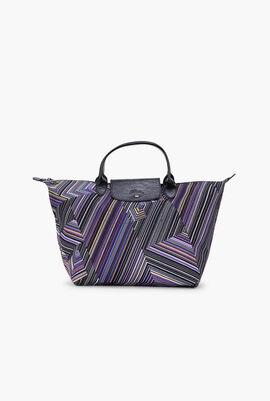 Le Pliage Stripes Handbag