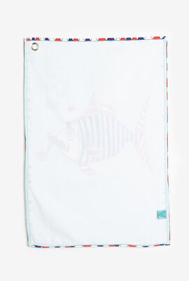 Mr. Fish Canvas Tea Towel