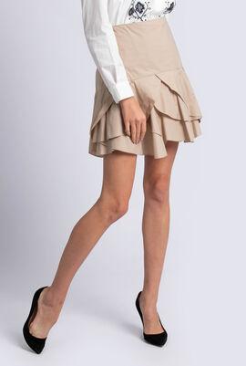 Ruffled Hem Skirt