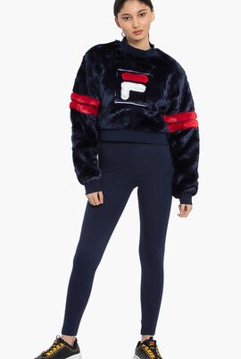 Cristabel Fur Cropped Sweat