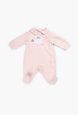 Overall Onesies with Chest Print