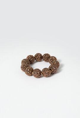 Pave Ball Stretch Bracelet