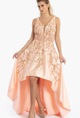 Beaded Hi-Low gown